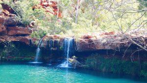 turquoise water Dales Gorge waterfall Karijini NP Western Australia