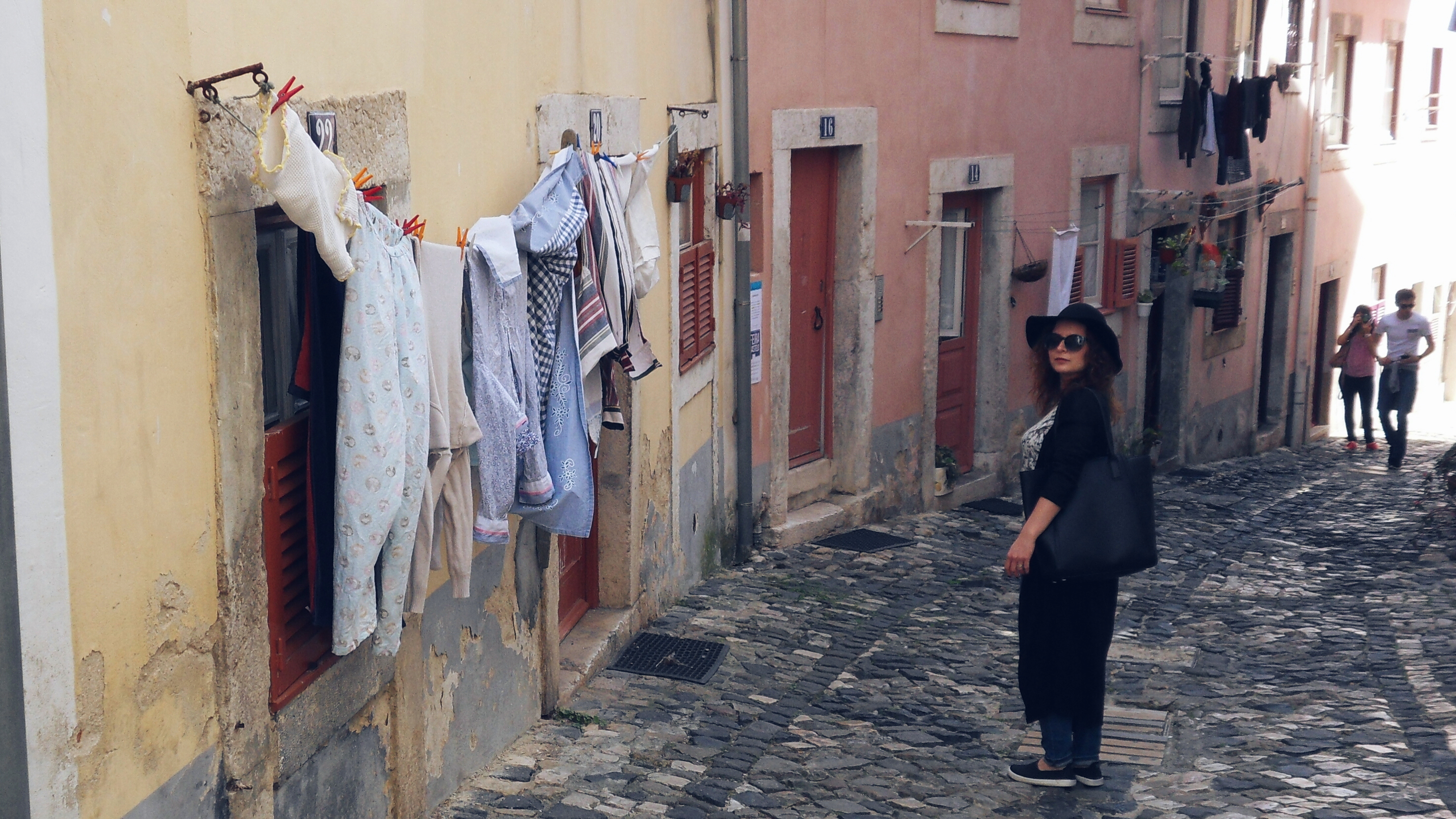 Walking the streets of Alfama Lisbon