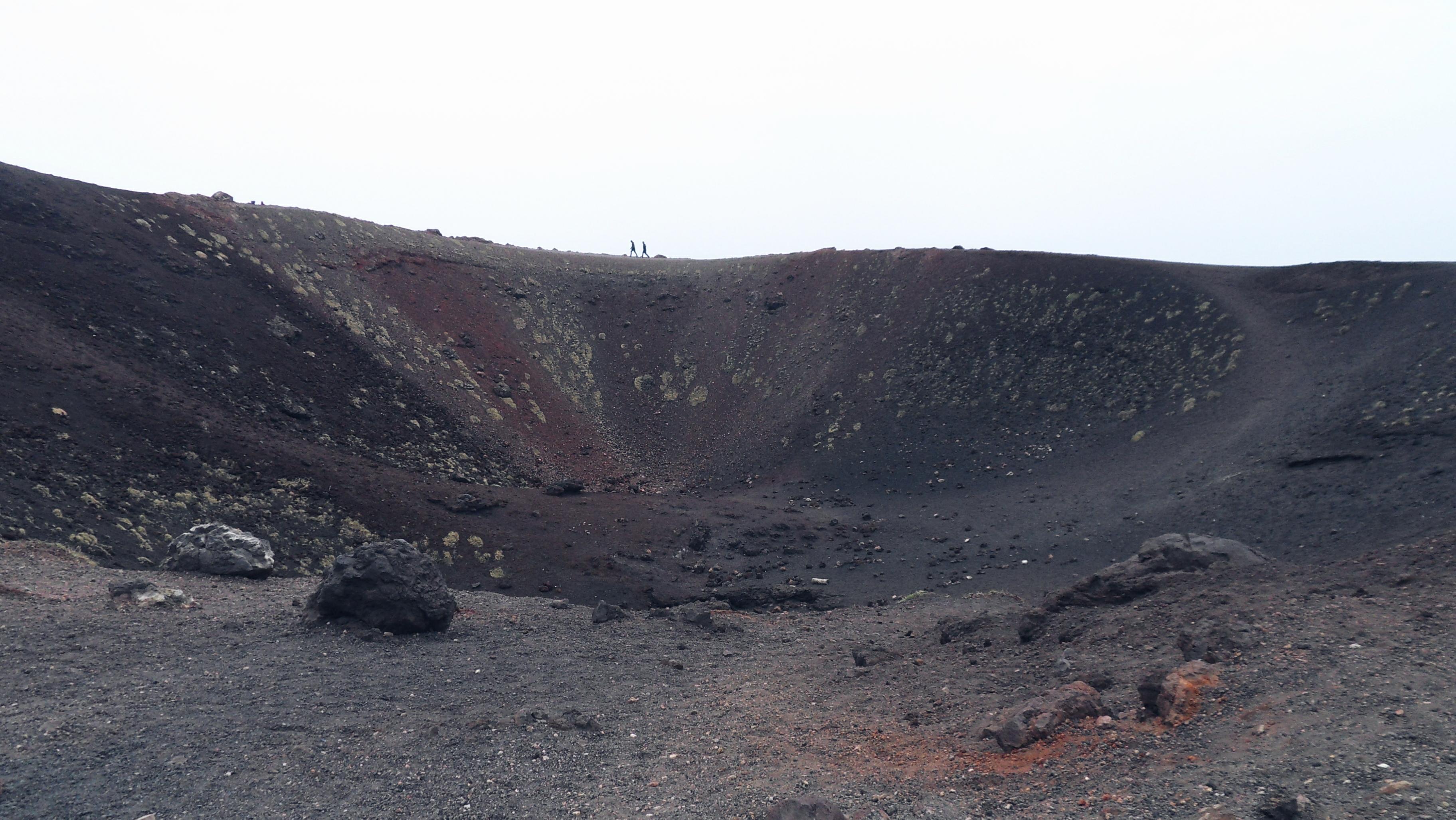 Vulcanic crater Etna Sicily