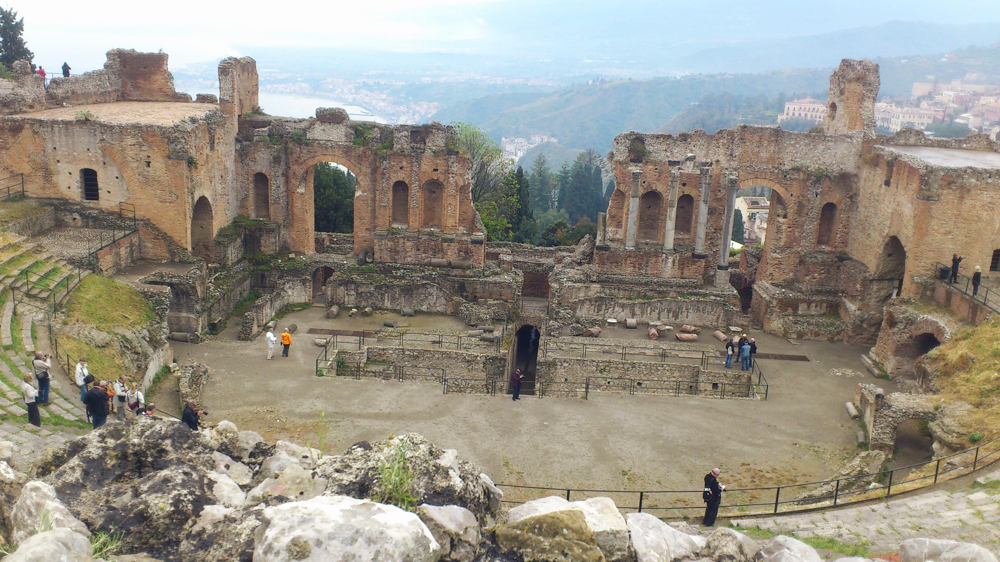 Teatro Greco Taormina Sicily view