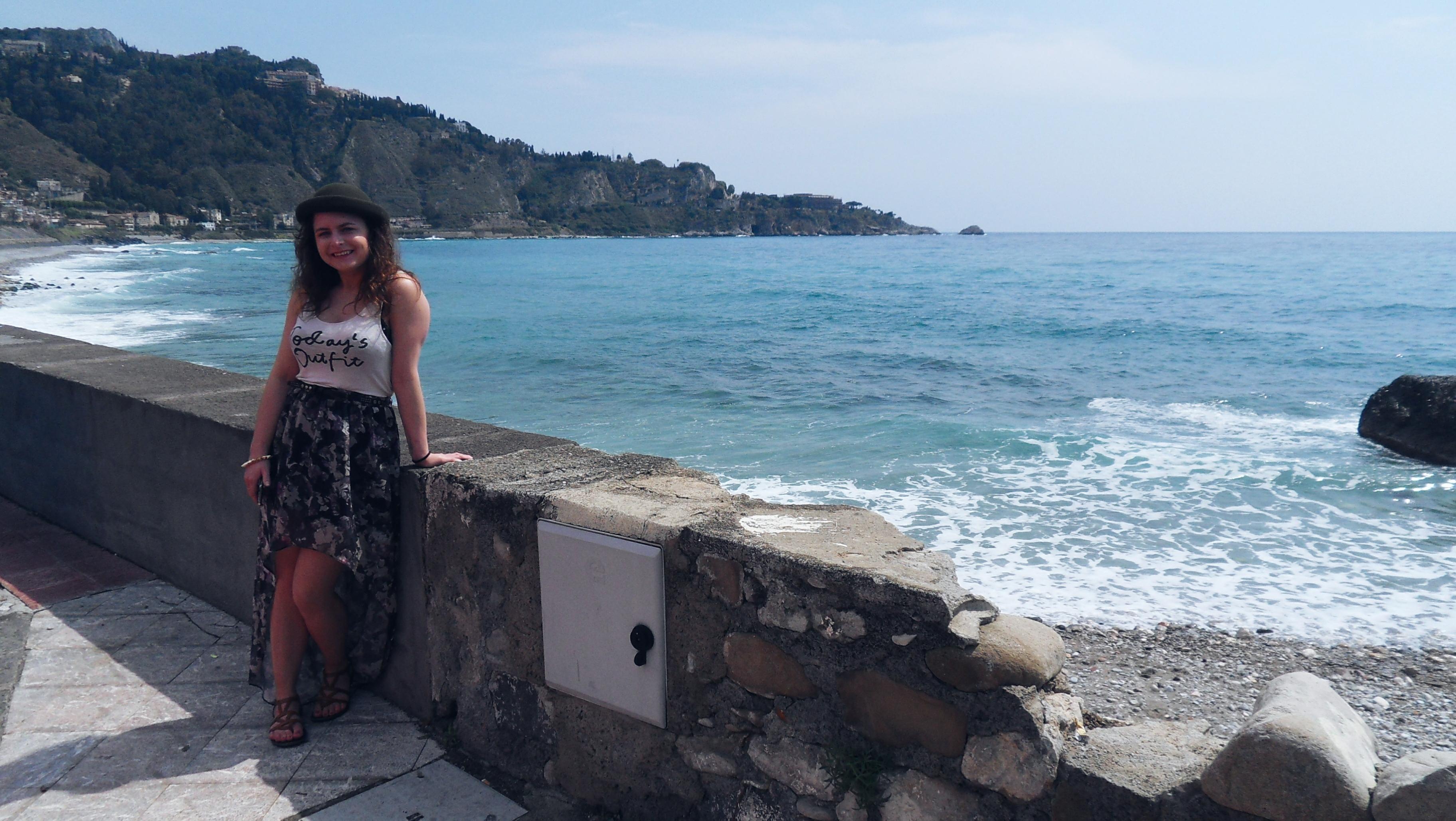 beach view Giardini Naxos Sicily