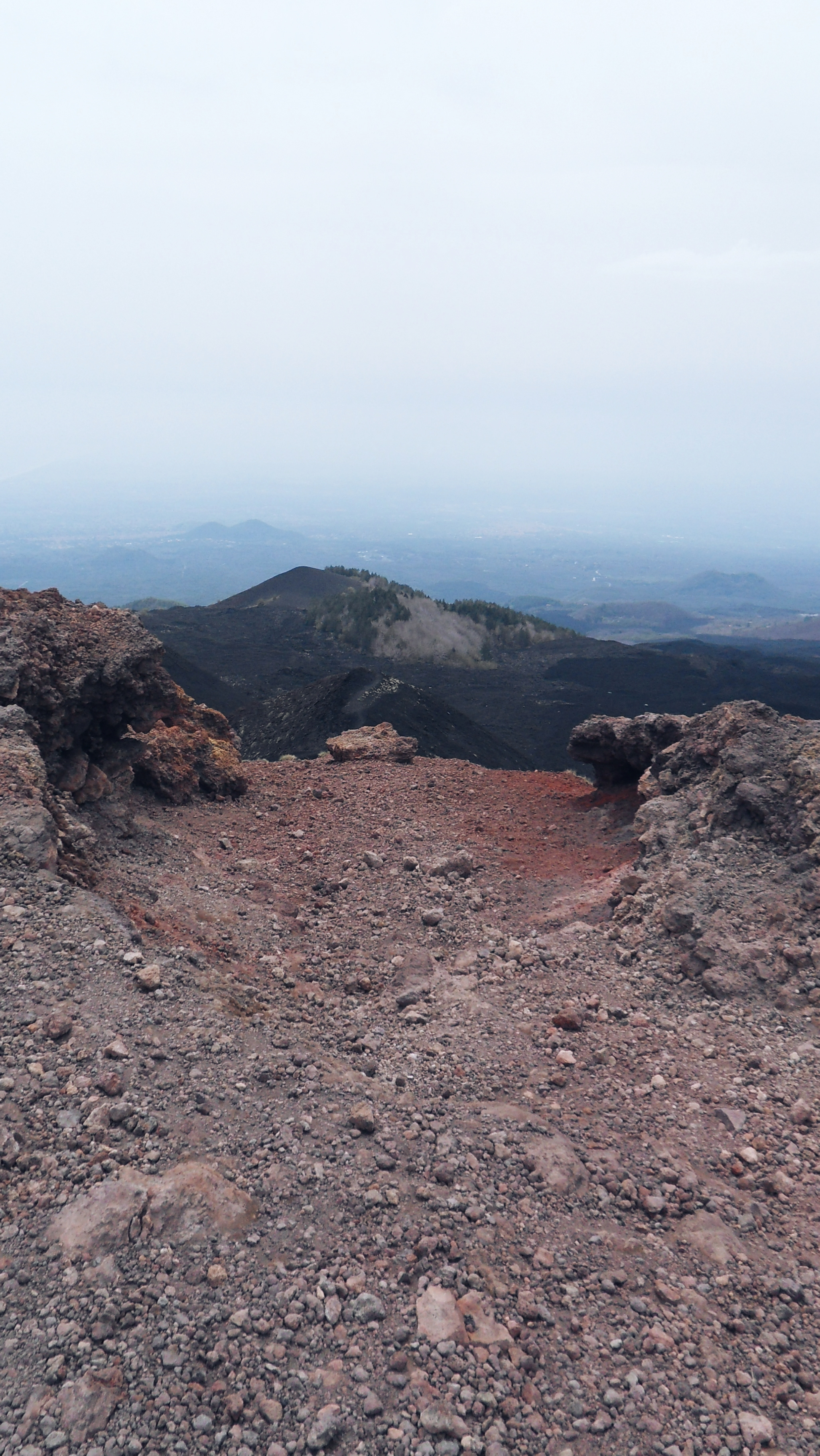 View from top Etna Sicily