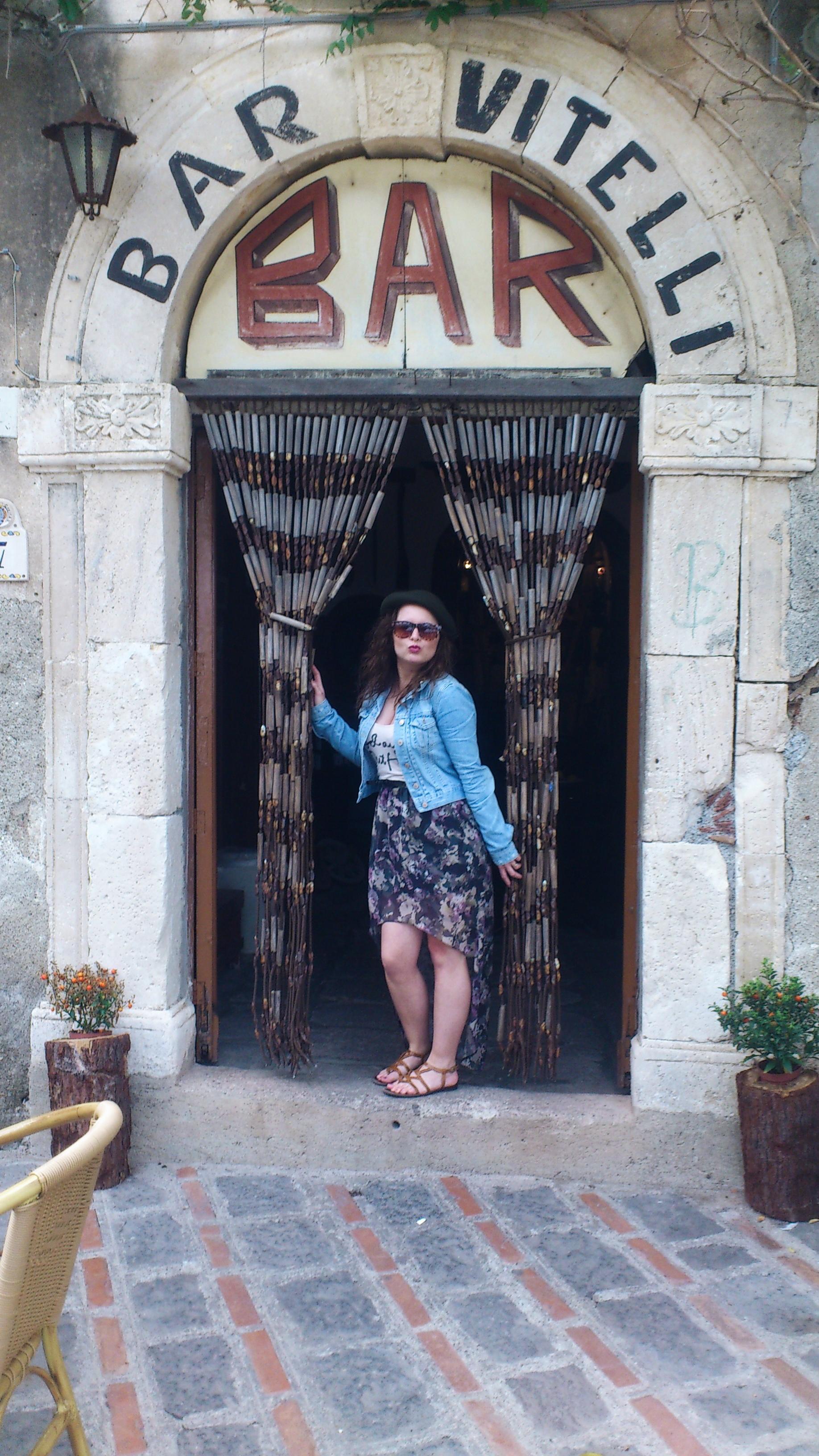 Door bar Vitelli Savoca Sicily Godfather movie scene