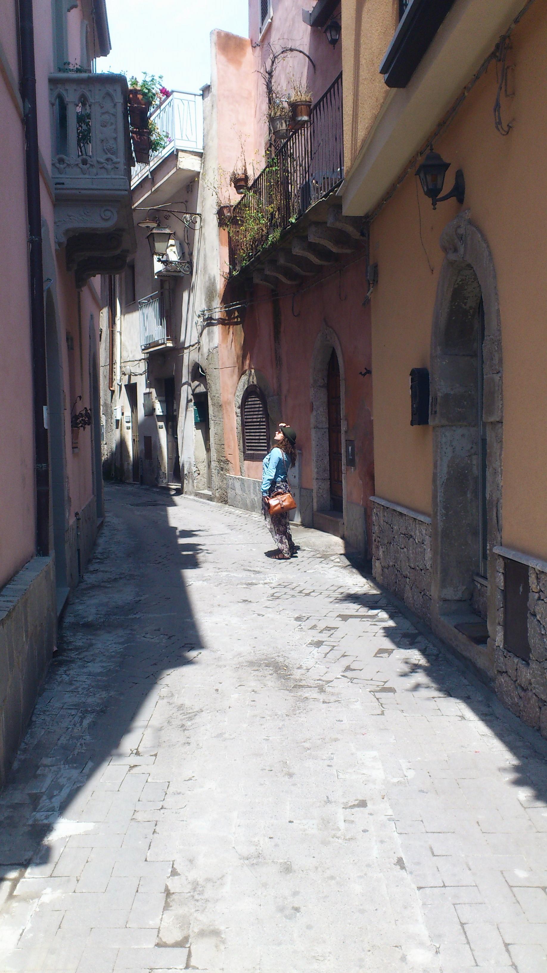 little village Forza D'agro Sicily Italia