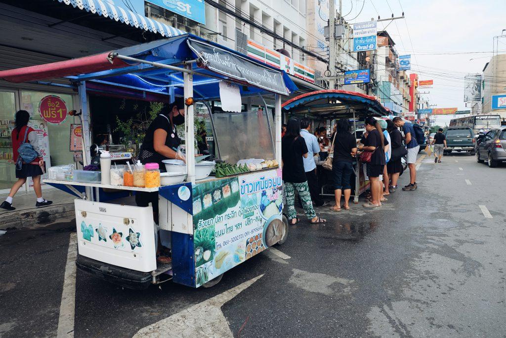 Try street food stalls Thailand
