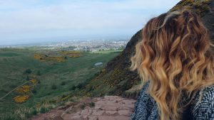 catching breathe with a view Holyrood Park Edinburgh