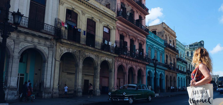 Colourful Paseo Marti Havana Cuba