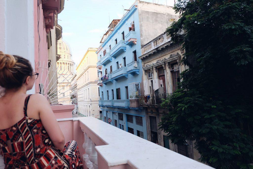 Balcony view casa Centro Havana Cuba