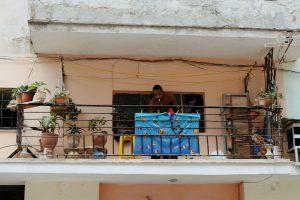 Balcony portrait Havana Cuba