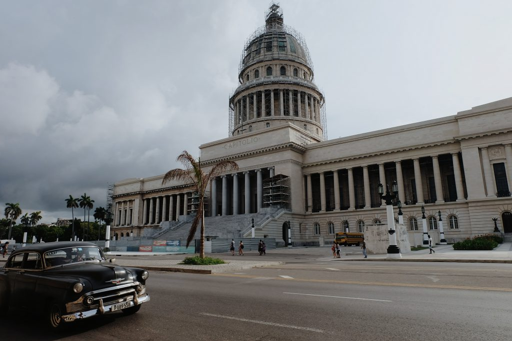 Romantic look Capitolio Havana Cuba