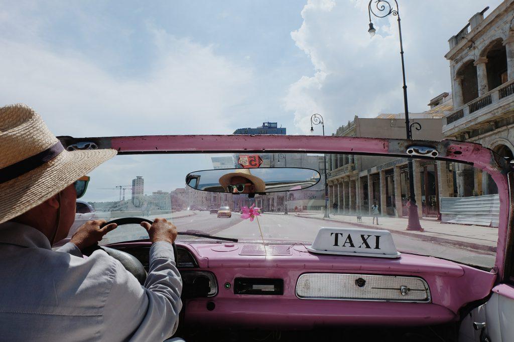 oldtimer drive Malecon Havana Cuba