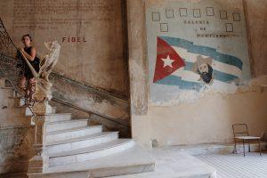 staircase La Guardia restaurant Havana