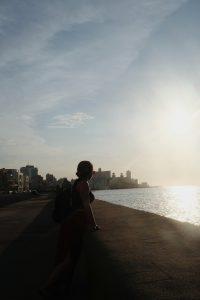 sunset walk Malecon Havana