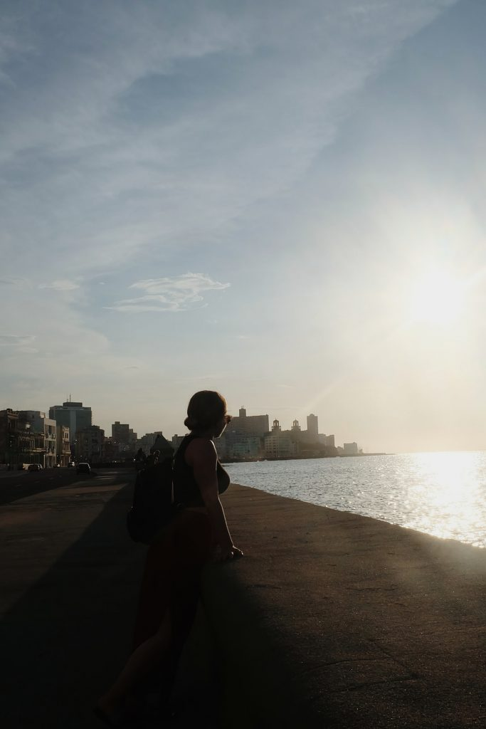sunset walk Malecon Havana