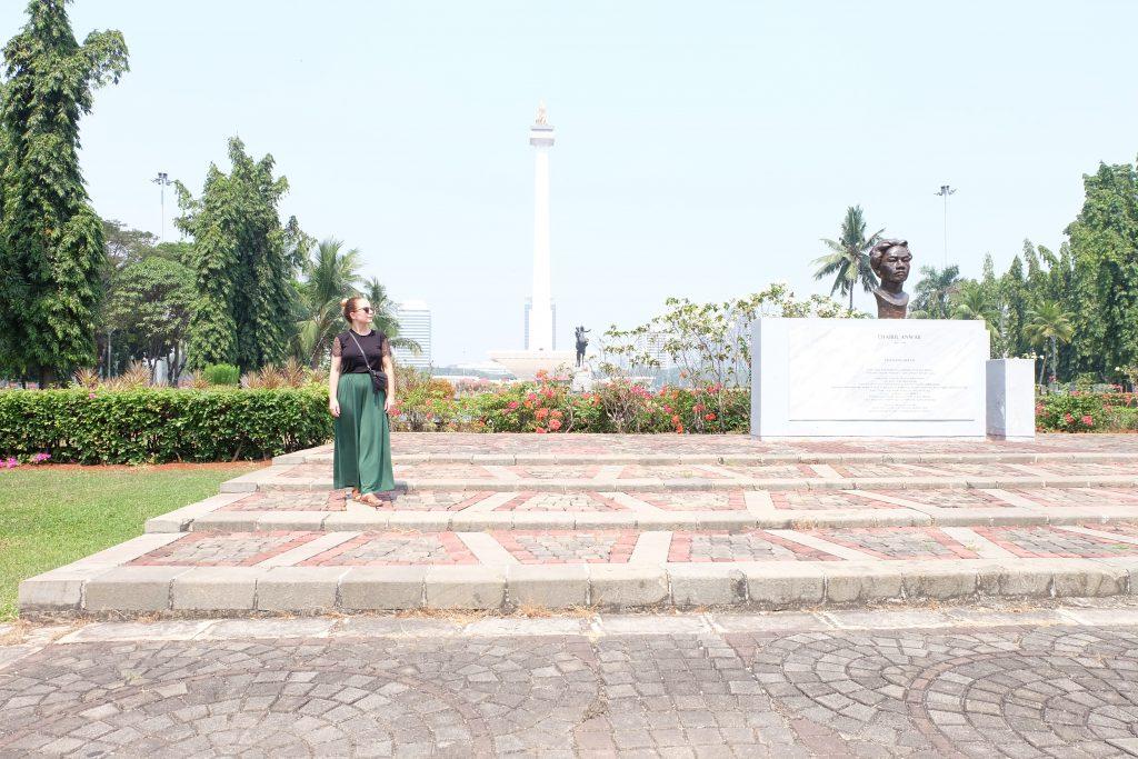 Monas quiet park monument Jakarta Java