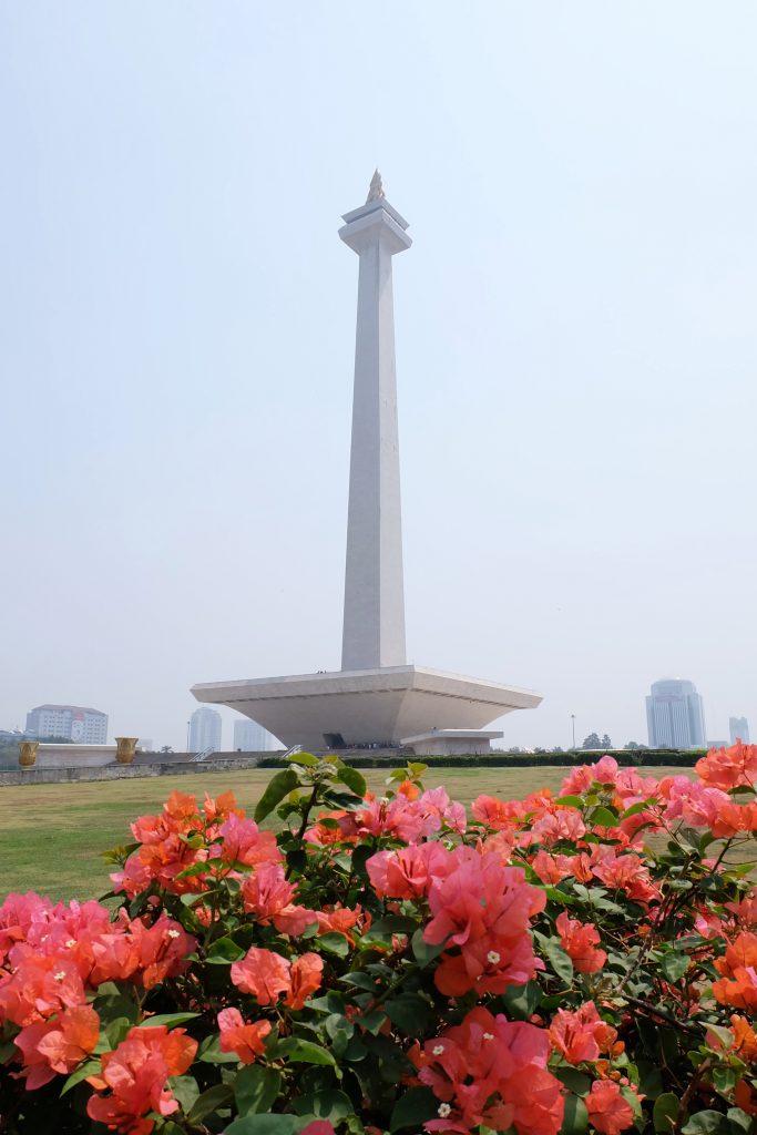 picture Monas flowers Jakarta Java Indonesia