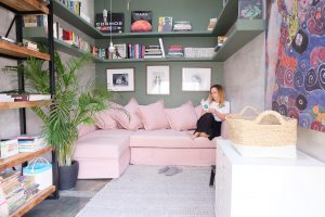 stylish book room Airbnb Jakarta Java interior
