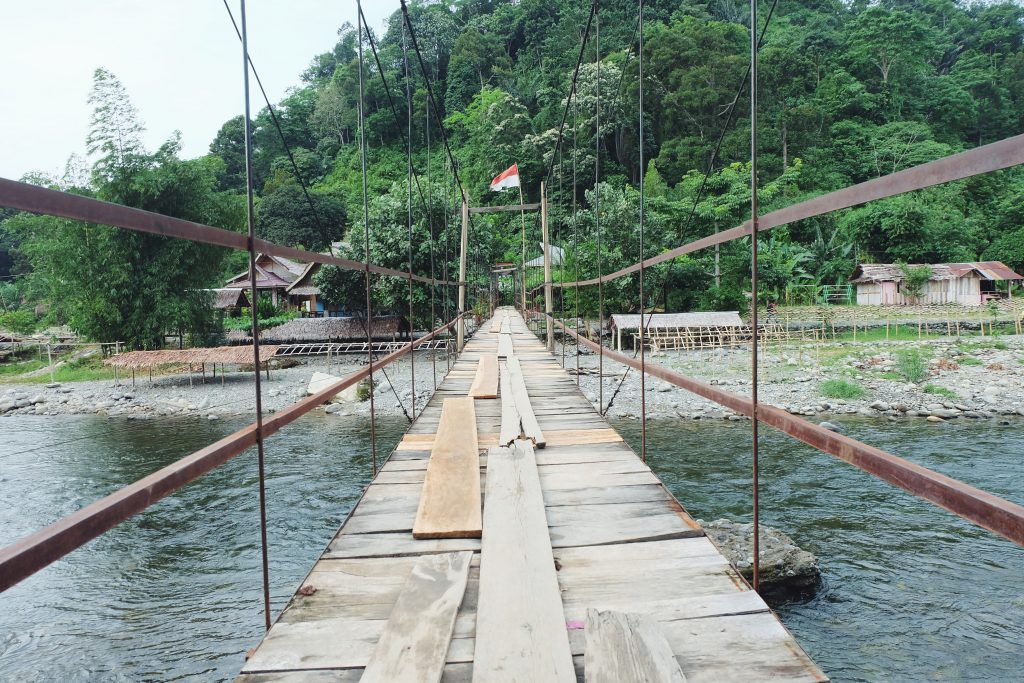jungle bridge entrance Gunung Leuser National Park