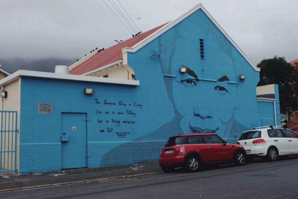 Mandela street art District Six Cape Town